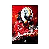 Sebastian Vettel Poster mit Formel 1, alternatives Poster