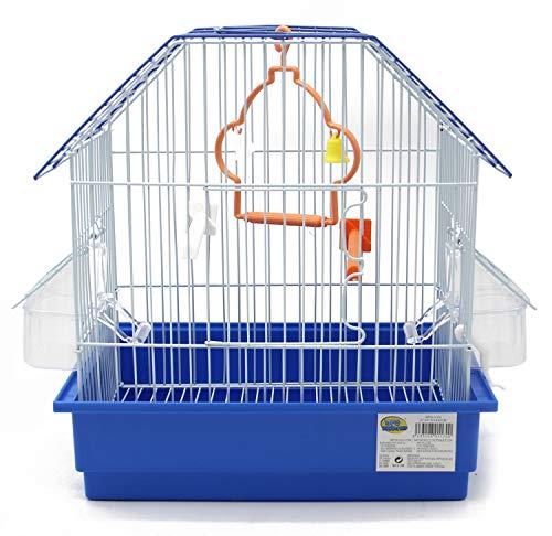 BPS Jaula para Pájaro Pajarera Periquito Canarios con Comedero Bebedero Saltado Perchas para Descanso Color al Azar 27.5x19.5x30 cm BPS-1170