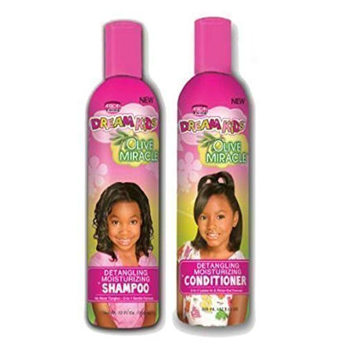 African Pride Dream Kids Olive Miracle Detangling Moisturizing Shampoo and conditioner by Dream