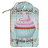 Cartel de madera cupcake 24x 15cm hängeschild Cocina Cartel de cocina de hornear...