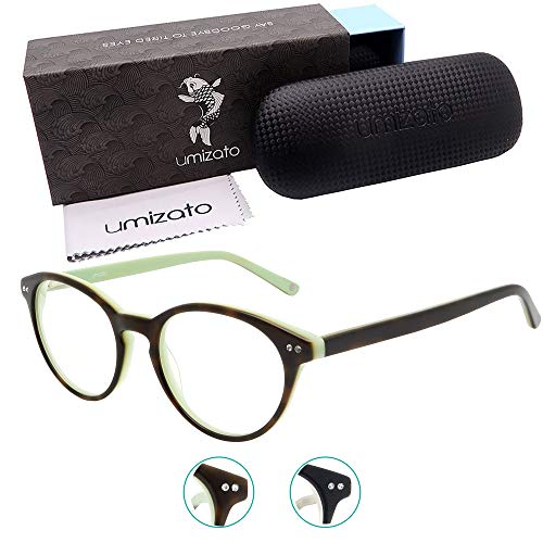 Umizato Blue Light Glasses Women Small Face - Best Blue Blockers for Boss Lady and Men on Computer, Gaming, Watching TV - Eye Strain Relief, UV Blocking, Migraine Sensitivity Relief (Manila Tortoise)