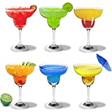 Rink Drink Margarita Cocktail Crystal Glasses - 270ml (9oz) - Gift Box of 6