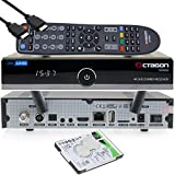 OCTAGON SF8008 4K UHD HDR Receptor Combo 1xDVB-S2X & 1x DVB-C/DVB-T2 – satélite, cable / señal terrestre, E2 Linux IPTV Smart TV Box, Media Server, función de grabación, HDMI, Dual WiFi [1TB interna]