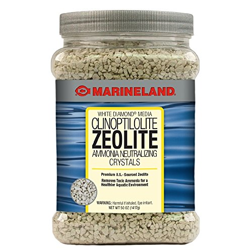 Marineland White Diamond 50 Ounces, Removes Toxic Ammonia, aquarium Filter Media