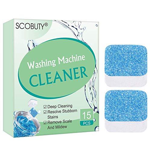 Waschmaschinenreiniger,Waschmaschine Reiniger Schaum,Dekontamination Brausetabletten, Waschmaschine Reiniger Tabs,Brausetablettenwaschreiniger Tiefenreinigungsentferner,15 Stk