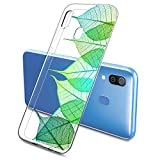Suhctup Compatible con Samsung Galaxy A81/M60S Funda Flor de TPU Transparente Diseño de Flores Patrón Cárcasa Ultra Fina Suave con Dibujos Claro Silicona Antigolpes Proteccion Caso(A3)