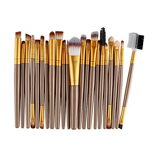 FOTBIMK Juego de brochas de mezcla, 22 piezas por juego de brochas de maquillaje, kit de aseo de maquillaje (dorado)
