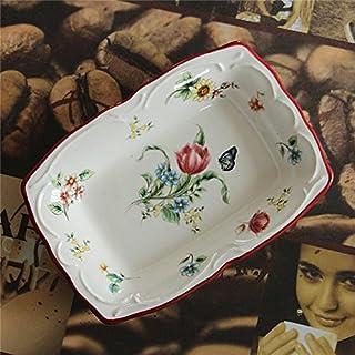 Tallrik keramisk tallrik keramisk servis, avlång tallrik, mellanmålstallrik, mellanmål disk, tvålskål A Turris (16 11cm Long)