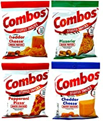 COMBO'S CLASSIC VARIETY – Features some of your favorite Combo's Classic Flavors VARIETY PACK OF 4 – Includes 1 bag of each flavor: Cheddar Cheese Cracker, Cheddar Cheese Pretzel, Pepperoni Cracker, and Pizzeria Pretzel SNACK PACK – Sample them all a...