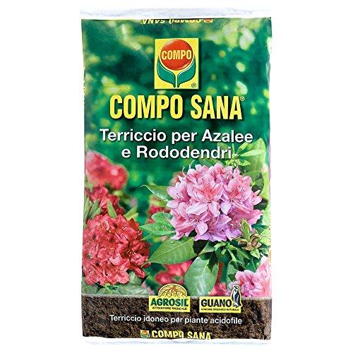 Compo Sana - Sustrato de calidad para azaleas, rododendros y plantas ácidas, saco de 20 litros