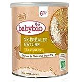 Babybio 3 Céréales Nature Riz Blé Avoine 6 Mois Bio 220 g