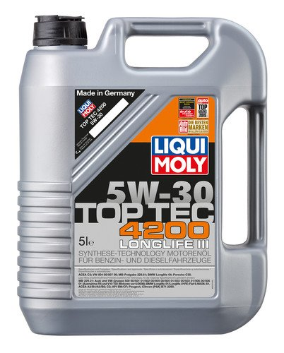 Liqui Moly 3 x 3707 Top Tec 4200 Motoröl 5 W-30 5 Liter - Set -