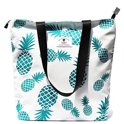 Original Floral Tote Bag Shoulder Bag for Gym Hiking Picnic Travel Beach ([W] upgraded large size 2)