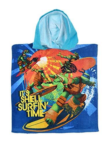 Ninja Turtles Kapuzenbadetuch, für Kinder, Jungen, Blau, Einheitsgröße (2-6 Jahre), 100% Baumwolle, blau, one Size