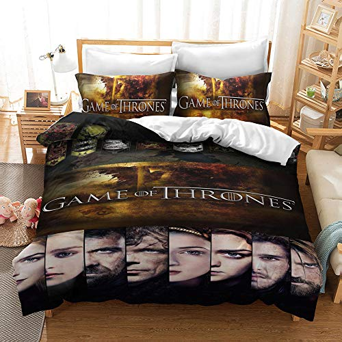 Duvet Cover Set Queen Size for Youth Teens 3D Print Bedding Set Stylish Decor Comforter Cover with 2 Pillowcases,Zipper, 3 Pieces