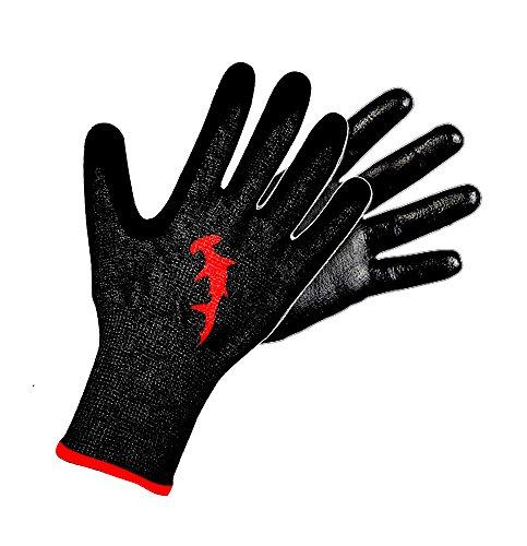 Hammerhead Spearguns Dentex Gloves - Polyurethane Grip - Cut Resistant (Lv5) and Puncture Resistant (Lv3) - Medium