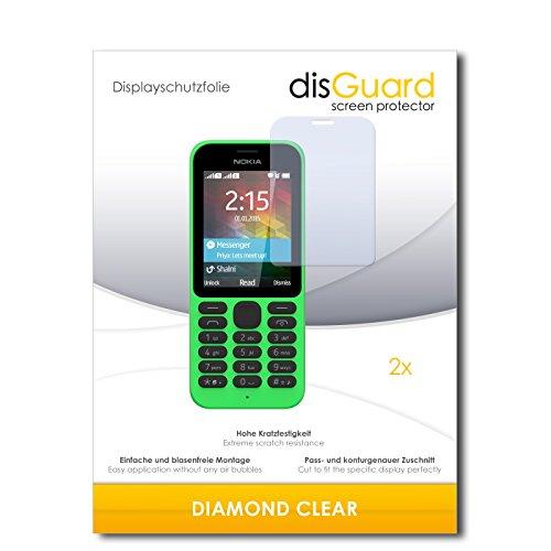 disGuard 2 x Bildschirmschutzfolie Microsoft Nokia 215 Schutzfolie Folie DiamondClear unsichtbar