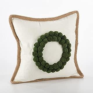 Fennco Styles Ricamato Collection Xmas Tree Throw Pillow- 2 Styles (Wreath)