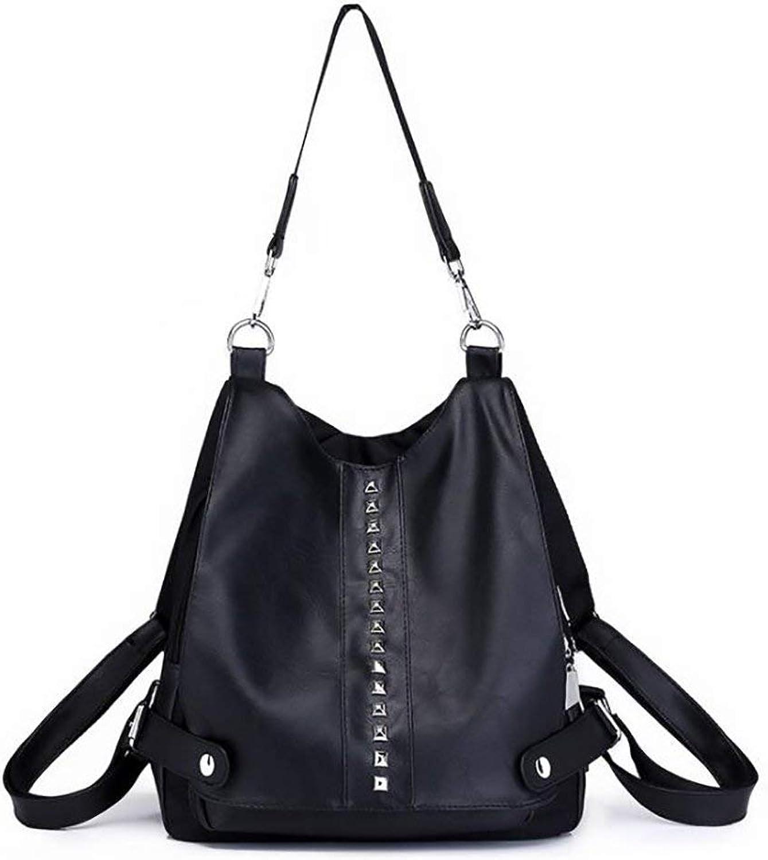 Amayay Daypacks Erwachsene Backpack Vintage Stylisch Fashion Damen Tasche Casual Multifunktions Einfacher Stil Leder Rucksack Handtasche Pu 28  12  32Cm (Farbe   Colour, Größe   One Größe)