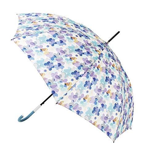 Paraguas Vogue Estampado Floral. Paraguas Mujer Original y Elegante. Paraguas automático, protección Solar y antiviento. (Estampado Flores Tonos azulados)