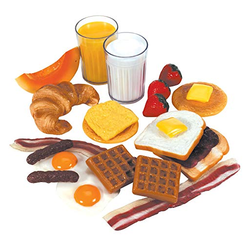 Kaplan Early Learning Company Life-Size Pretend Play Breakfast Meal Set (22 Pieces)