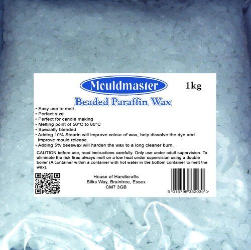 Mouldmaster 1 Kg Candle Wax, Transparent
