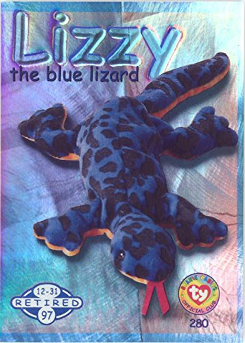BBOC Cards TY Beanie Babies Series 2 Retired (Blue) - Lizzy The Blue Lizard