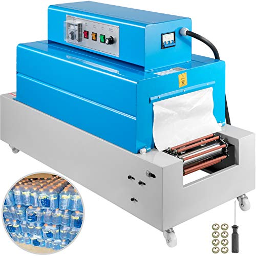 BestEquip BS2615 Heat Shrink Machine, 26 x 15CM Heat Shrink Packaging Machine, 4800W Shrink Tunnel Machine, Chain Type 5KG Load Capacity 220V Heat Tunnel Wrapping Machine For PVC/PP/PE Shrinking