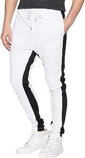 YYG Mens Athletic Color Block Casual Autumn Elastic Waist Sweatpants Pants Trousers