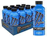 Monster Energy Hydro Water, Blue Ice, 20 Fl Oz (Pack Of 12)