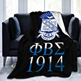GONGGUIqi Phi Beta Sigma Blanket Flannel 3D Printed Soft Warm Throw Blanket Warm for Home, Couch, Bed, Sofa Blanket