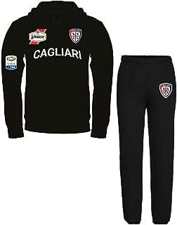 Nerd Generations Tuta Felpata Cagliari Personalizzata Pantalone Felpa Bianca con Cappuccio