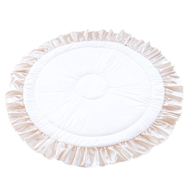 PUPPAPUPO サニーラグマット 【フリル】 ベージュ 新生児から対象 フリルのついたかわいいプレイマット ギフトにぴったりな花束型パッケージ