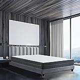 BedStory Orthopädische 7-Zonen Kaltschaum Matratze, Premium 90x200x18cm Kaltschaummatratze in Grau, 2 Härtegrade(H2 & H3) in...