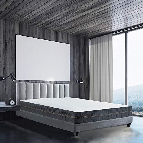 BedStory Orthopädische 7-Zonen Kaltschaum Matratze, Premium 90x200x18cm Kaltschaummatratze in Grau, 2 Härtegrade(H2 & H3) in Einer Matratze ergonomisch für Kinderbett
