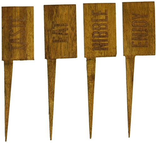 Country Home Acacia Wood Cheese Markers by Twine
