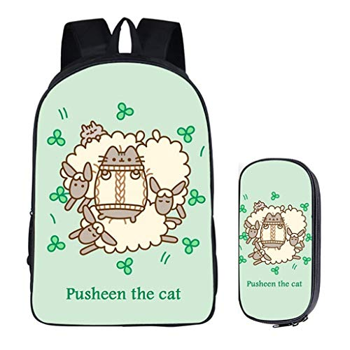 LLYDIANJunior Rucksack für Kinder 3D Pusheen Cat Elementary und High School High-Kapazität Dekomprimierung Rucksack-Schule-Beutel-Mittagessen Messenger Bag Mäppchen (Color : 6, Size : 42X16X29CM)
