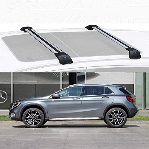 YIJIAREN Ajuste Rieles Cruzados Personalizado para Mercedes B ENZ GLA 2015-2019, aleación de Aluminio Barra Transversal Rack De Techo Portaequipajes Rack con Cerradura