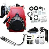 DYRABREST 4-Stroke 49cc Bicycle Engine Kit Air-Cooled Gas Petrol Bicycle Engine Motor Set Gas Motorized Bike Motor Kit for Bicycle Mountain and Road Bike Gas Motorized Motor Bike (Without Belt)