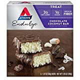 Atkins Endulge Treat Chocolate Coconut Bar. Rich Coconut & Decadent Chocolate. Keto-Friendly. (5 Bars)