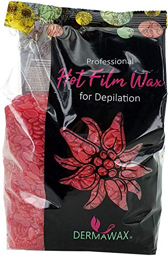 500 Gramm Rosa Film Wachs- Heisswachs Waxing Perlen Wachsperlen zur professionellen Ganzkörper Haarentfernung Enthaarung Brazilian Waxing ohne Wachsstreifen