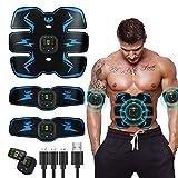 GAOA Estimulador de abdominales músculo abdominal, entrenador de ccsme, tonificante corporal, cinturón de tonificación recargable por USB para hombres y mujeres