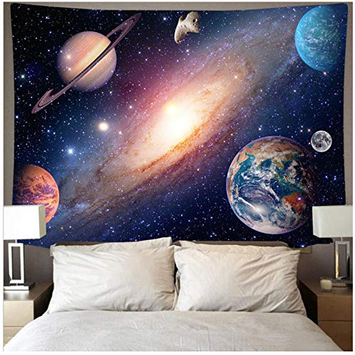 BD-Boombdl Tapestry Outer Space Moon Decoration Beach Blanket Tent Travel Mattress Corridor Office Hotel Christmas Decoration 200x150 cm