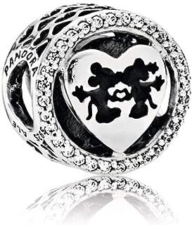 Sterling Silver Disney's Mickey & Minnie Love Charm 791957CZ