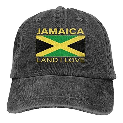 Hoswee Baseballmütze Hüte Kappe Jamaica Land I Love Unisex Trendy Cowboy Hip Hop Cap Verstellbare Baseballkappe