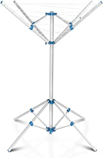 Shopps 16m 4 Arm Rotary Airers, Portable Lightweight Foldable Free Standing Aluminium Washing Line Drying Rack,Very for In...