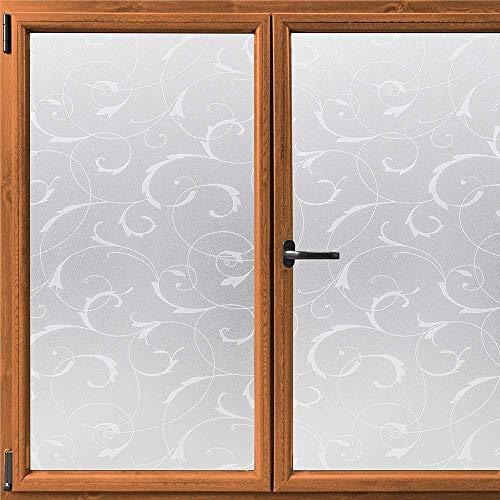 N / A Privatfenster-Sichtschutzfolie, dekorative elektrostatische Paste Milchglasfolie, Selbstklebende obere Sichtschutzfenster-Aufkleber UV-beständig A92 50x200cm