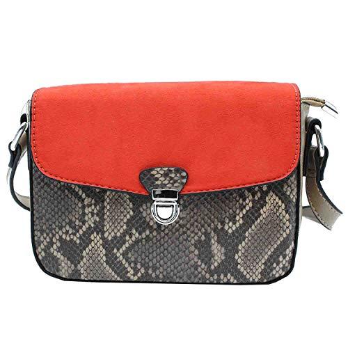 MISEMIYA - Borsa a Tracolla Borse Tracolla Donna borsa a Tracolla donna SR-WQ857(21 * 16 * 7cm) - Caqui