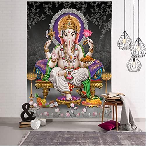 SPJUF Tapiz Dios Indio Tailandia religión Shiva Ganesha Parvati Budismo esteras de meditación Elefante Mandala Hippe Tapiz Colgante de Pared