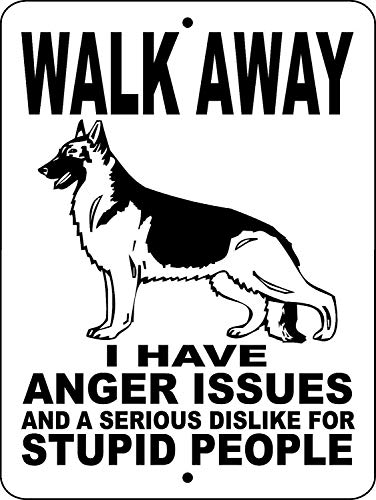 Nostalgic Funny Vintage Rustic Style Inspirational Art German Shepherd Dog Guard Dog Security Gate Wags Tin Sign Aluminum Sign for Home Bar Diner Pub 8x12 Tin Sign